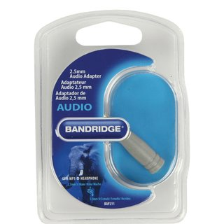 Stereo-Audio-Adapter 2.5 mm male - 3.5 mm female Grau