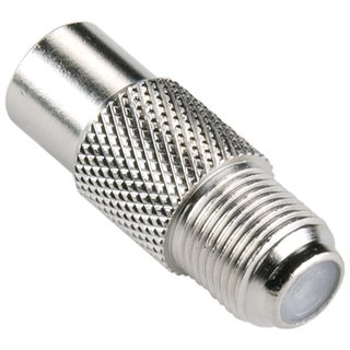 Coax-Adapter F Koax-Stecker - F female Silber