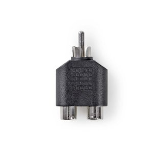 Subwoofer-Adapter | Cinch-Stecker - 2x Cinch-Buchse | Schwarz