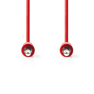 Stereo Audiokabel | 3,5-mm-Stecker - 3,5-mm-Stecker | 1,0 m | Rot
