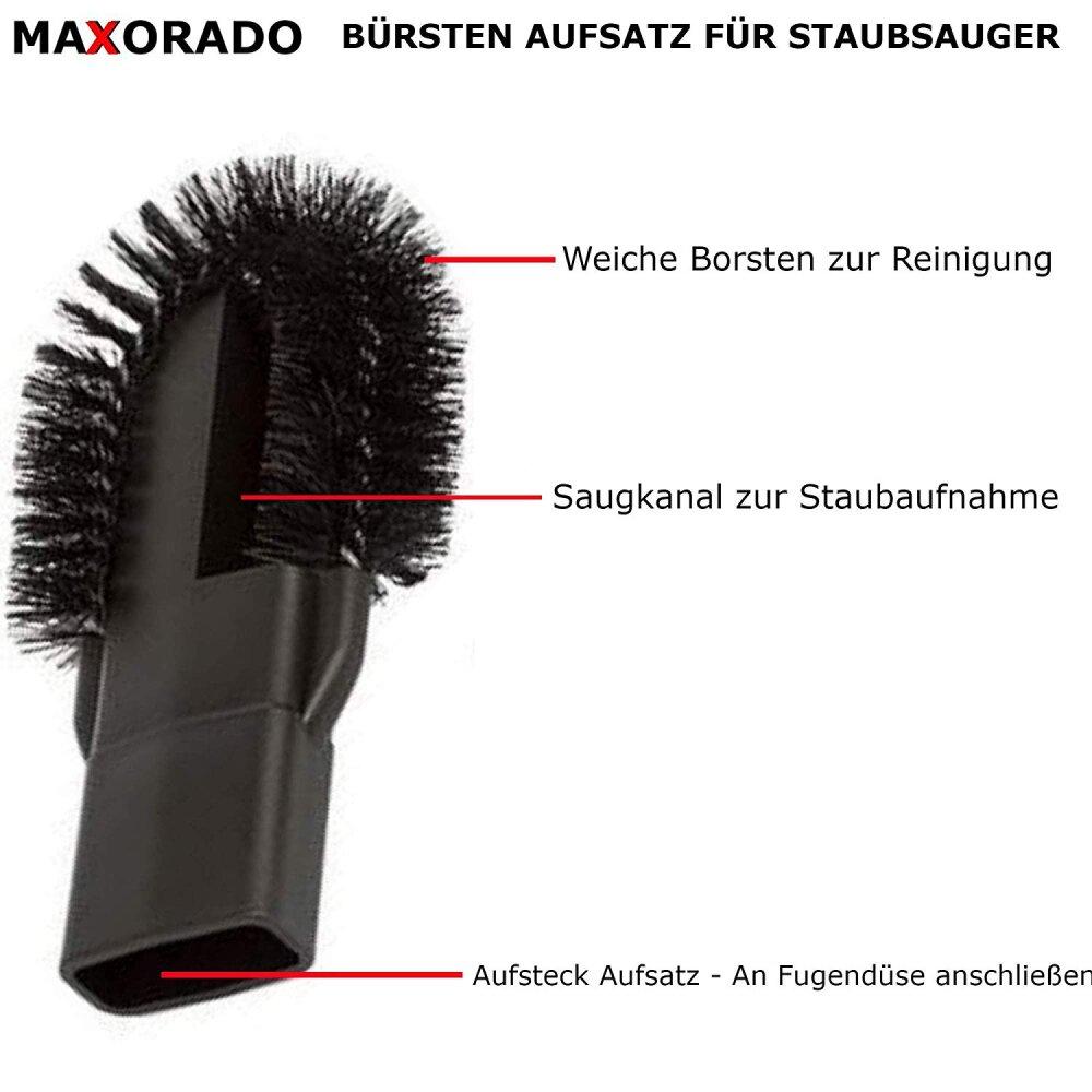 Maxorado Bürste Staubsauger Aufsatz für Fugendüse zb